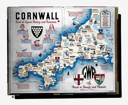 'Cornwall - Land of Legend, History and Romance', GWR poster, 1933.