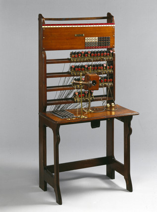 Jones 50-line switchboard, 1879.