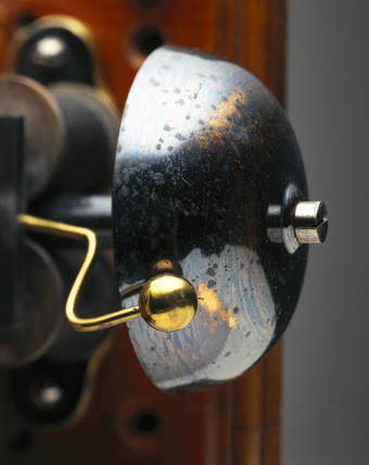 Bell on an Edison telephone, 1879.