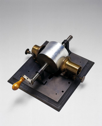 Edison's first phonograph, 1877.