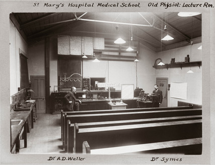 Doctors Augustus Waller and Symes, St Mary's Hospital, London, 1884-1903.