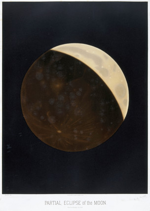 Partial eclipse of the Moon, 24 October 1874.