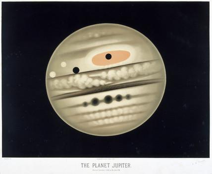 The planet Jupiter, 1880.
