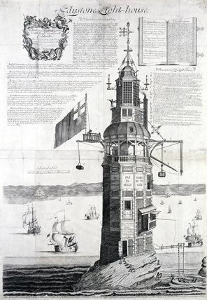 The first Eddystone lighthouse, Devon, 1703.