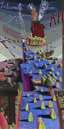 'How Small Can We Go?', 1993. Mural by Davi