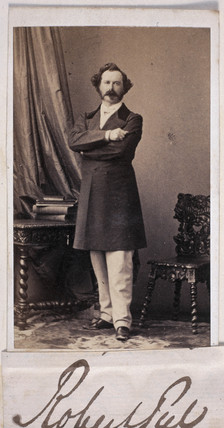 Sir Robert Peel, English politician, c 1862.