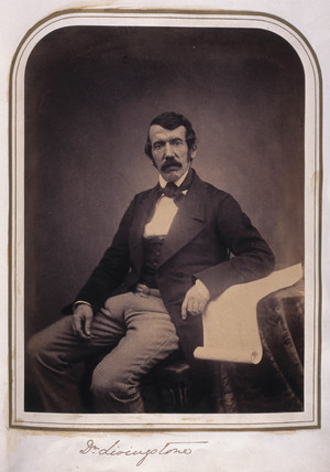 David Livingstone, misionary and explorer, c 1840s.