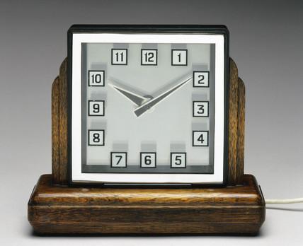 Mystery clock, English, c 1935.