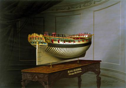 HMS 'Kingfisher', 1775.