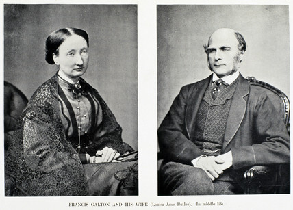 Sir Francis Galton and his wife Louisa, c 1880s.