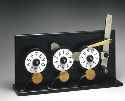 Mechanical counter, 2001.