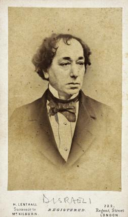 Benjamin Disraeli, English statesman and novelist, c 1860s.
