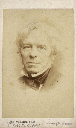 Michael Faraday, English chemist and physicist, c 1860.