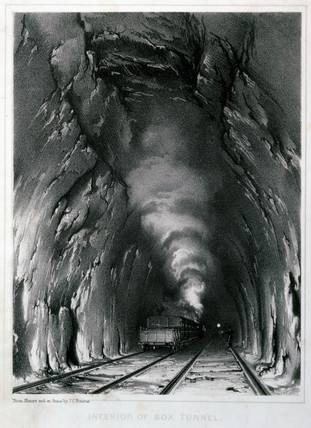 Interior of Box Tunnel, Great Western Railway, 1846.