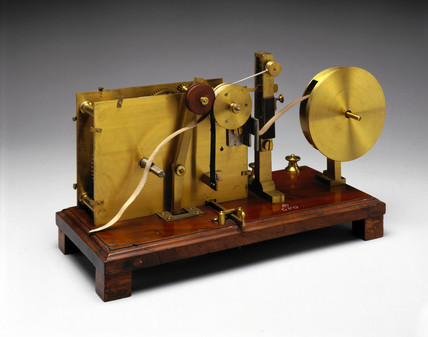Bain's chemical telegraph, 1850.