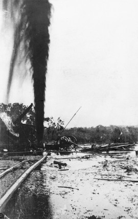 'Oil Geyser', Mexico, 1900-1910. Photograph