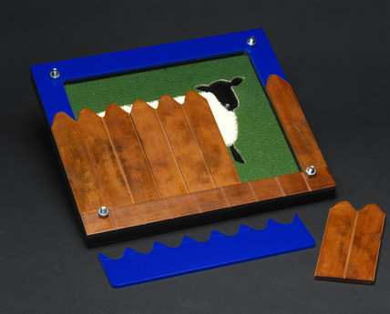 Sheep jigsaw puzzle, 2000.