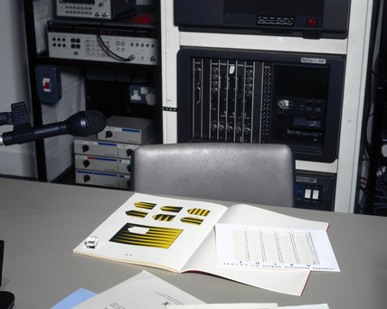Raven's Matrices on display in the 'Mind Your Head' exhibition, January 2001.