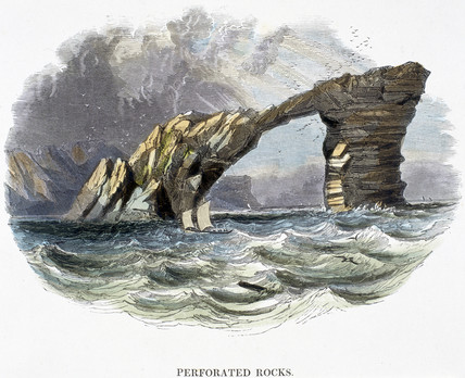 'Perforated Rocks', 1849.