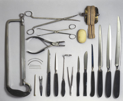Amputation instruments, German, 1831-1870.