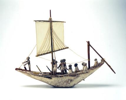 Egyptian tomb boat, c 2000 BC.