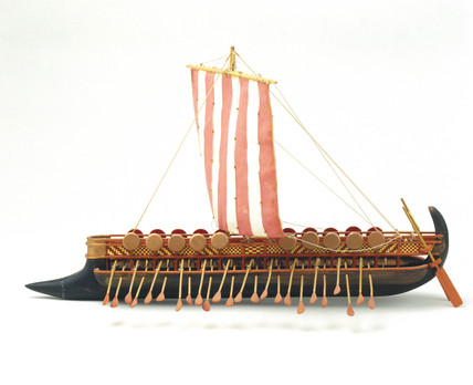 Phoenician bireme, c 700 BC.