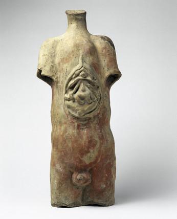 Votive male torso, Roman, 200BC-200AD.