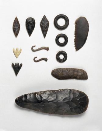 Flint knapping tools, 6800-3200 BC.