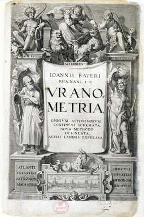 Frontispiece of 'Uranometria', 1603.