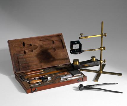 Metallurgical analysis equipment, 19th century.