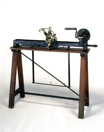 Brunel's circular loop wheel knitting machine, c 1816.