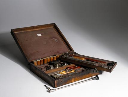 Ore prospector's cabinet, 19th century.