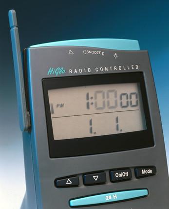 Radio-controlled desk clock, American, 2000.