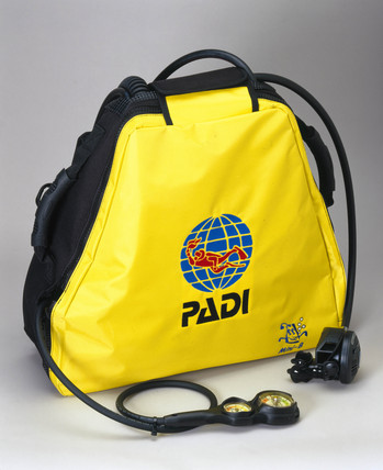 The Mini Breather scuba backpack, 2001.