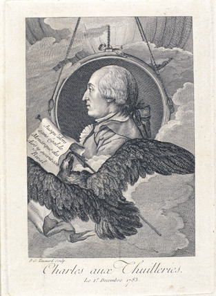 Jacques Charles, French aeronaut and physicist, c 1793.