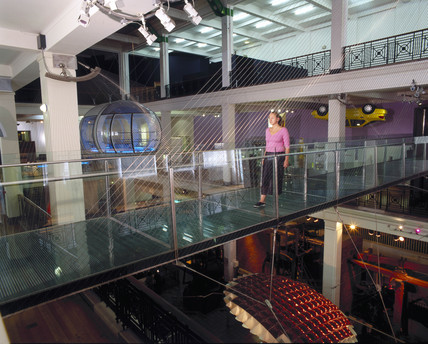 Glass bridge, Science Museum, London, 1998.