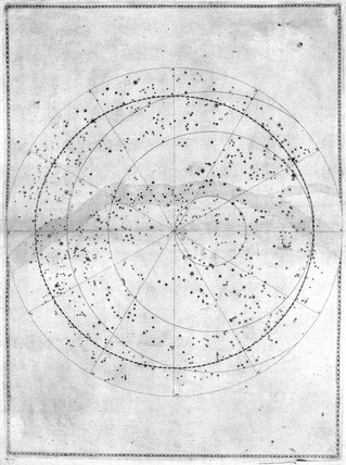 Map of the southern celestial pole, 1603.