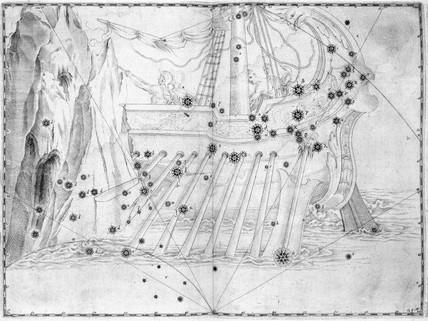 The constellation 'Argo Navis', 1603.