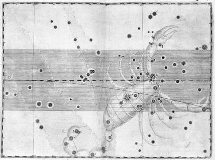 The constellation Scorpius (Scorpio), 1603.