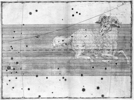 The constellation Aries, 1603.