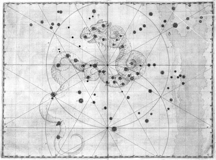 The constellation Draco, 1603.