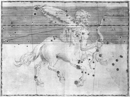 The constellation Sagittarius, 1603.