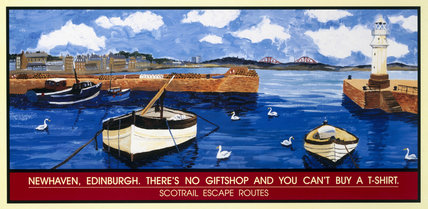 Newhaven, Edinburgh. There's No Giftshop and You Can't Buy a T-Shirt', Scotrail poster, 1996.