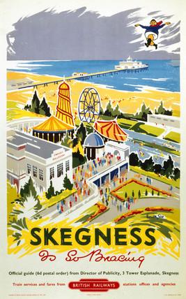 'Skegnes is So Bracing', BR (ER) poster, 1956.