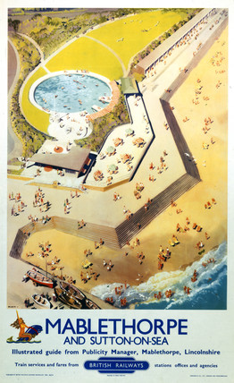 'Mablethorpe and Sutton-on-Sea', BR (ER) poster, 1956.