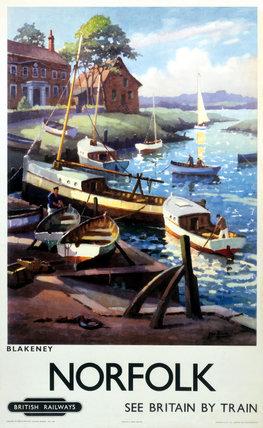 'Norfolk - Blakeney', BR (ER) poster, 1960.