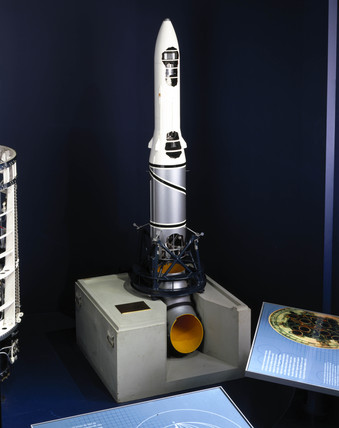 Black Arrow launch vehicle, c 1970.