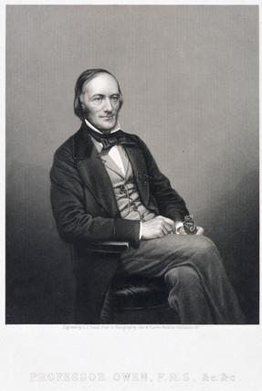 Sir Richard Owen, English naturalist and paleontologist, c 1860.