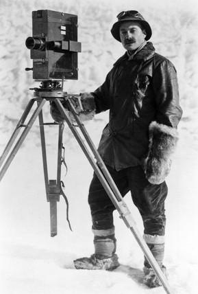 Herbert Ponting, English travel photographer, c 1920.