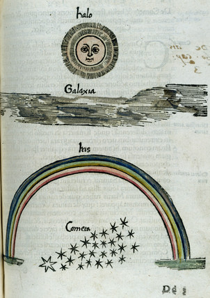 The Sun's halo, Milky Way, a rainbow and a comet, 1535.